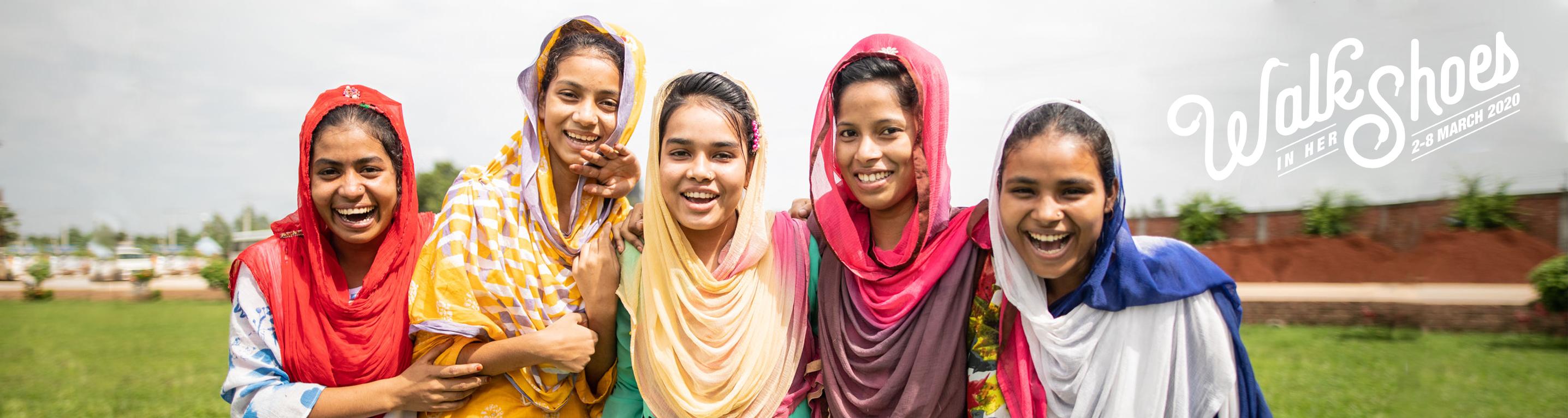 Image of girls smiling