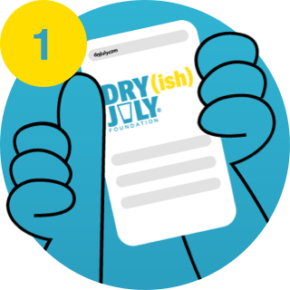 Dry July Step 1 - Sign-up to the challenge
